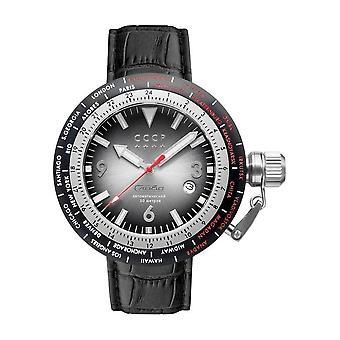 CCCP - Wristwatch - Herrren - RUSSIA TIMEZONE - CP-7053-01 - Smoky Black / Black