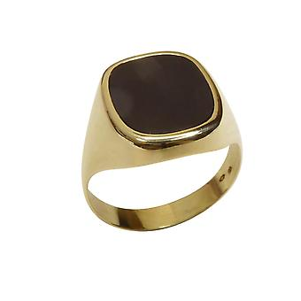 Gold seal ring with onyx