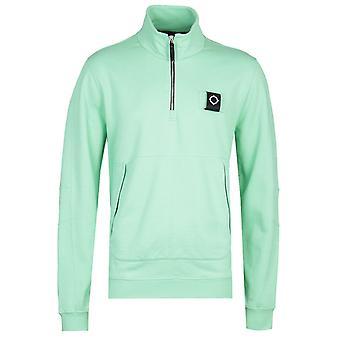 MA.Strum Dark Mint Green Zip Neck Training Sweatshirt