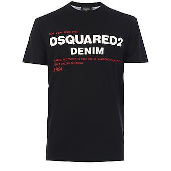 Dsquared2 S74gd0729s21600900 Män's Black Cotton T-shirt
