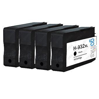 Cartucce di inchiostro per stampanti compatibili con go Inks Black per sostituire HP 932Bk (XL Capacity) compatibili / non OEM per stampanti HP Officejet