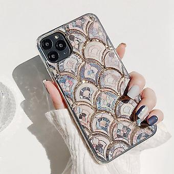Antique mosaic shell for iPhone11 Pro liquid glitter
