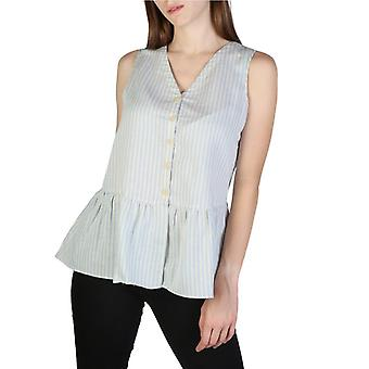 Woman cotton sleeveless top v-neck t-shirt top ae23607