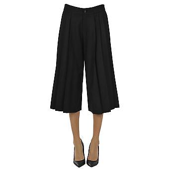 Paio Crippa Ezgl551002 Women's Black Wool Pants