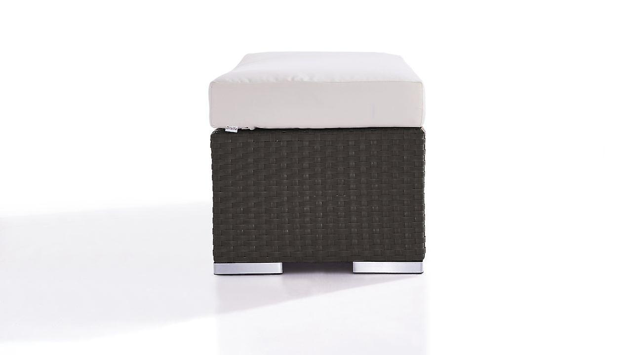 Polyrattan Cube Tabouret 45 cm - anthracite
