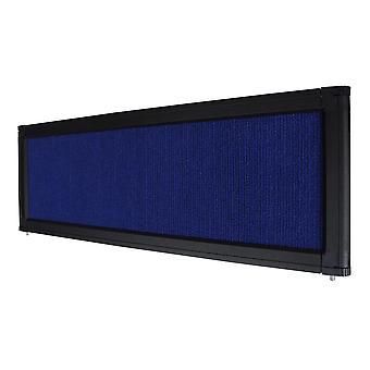 Blue Trade Show Display System Optional Header Panel Board Aluminum Frame Logo