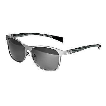 Rasse-Templer-Titanium polarisiert Sonnenbrille - Silber/Schwarz