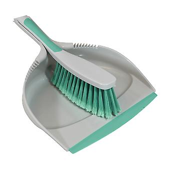 Charles Bentley 'Brights' Kitchen Bundle Set Mop Brush Scrub Squeegee Dish Dustpan Mint Green