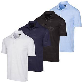 Greg Norman Mens ML75 Shark Jacquard Wicking Golf Polo Shirt