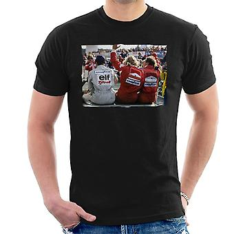 Motorsport Bilder Jody Scheckter James Hunt & Jochen Mass Men's T-Shirt