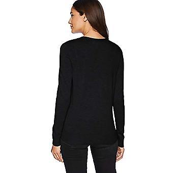 Essentials Women's Lightweight Vee Cardigan Sweater, Sort, Medium