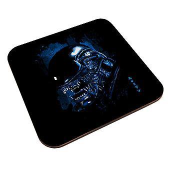 Alien Nær Opp Blå Coaster