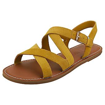 Toms Sicily Womens Walking Sandals in Gold