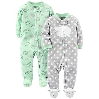 Eenvoudige joys van Carter's Baby 2-Pack Fleece Footed Sleep and Play