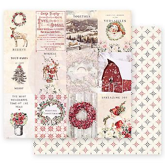 Prima Marketing Christmas In The Country 12x12 Inch Sheet Spreading Christmas Magic