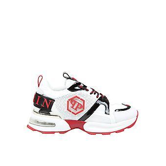 Philipp Plein Msc2868pxv001n0113 Heren's White Leather Sneakers