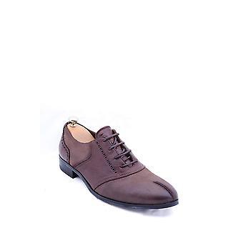Wingtip pitsi ylös ruskea kenkä | Kävi koulua wessi