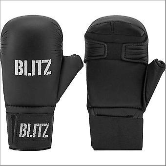 Blitz sport Karate Elite PU sparring handschoenen-zwart