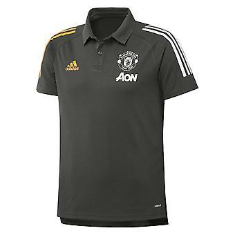 2020-2021 Man Utd Adidas Training Polo Shirt (Green)