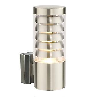 Endon Tango - 1 luz de pared exterior ligera acero inoxidable, policarbonato IP44, E27