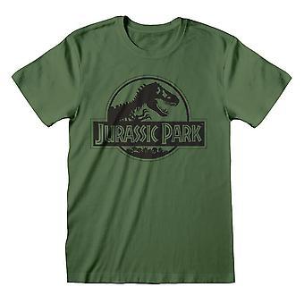 Men's Jurassic Park Mono Logo Verde Crew Neck T-Shirt
