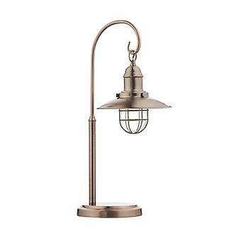 Terrace Table Lamp Copper And Glass 1 Bulb