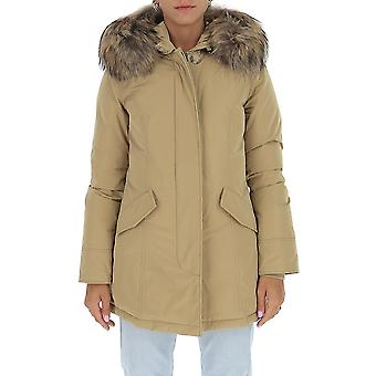Woolrich Wwou0296frut05738926 Women's Beige Nylon Down Jacket