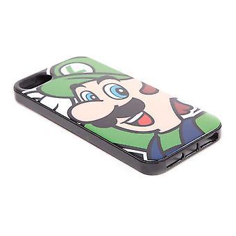 Nintendo Super Mario Bros. Luigi Face -puhelimen kansi Apple iPhone 5 / 5S: lle