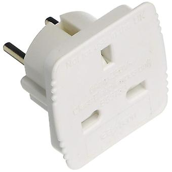 UKTOEU Travel Adapter UK to Europe Carded - Pack of 20 (Model No. UKTOEU)