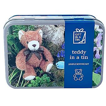 Teddy In A Tin - Simple Sewing Kit, Suitable For Children - Luxury Gift Item