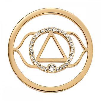 Nikki Lissoni 7th Chakra Ajna Medium Gold Plated Coin C1498GM