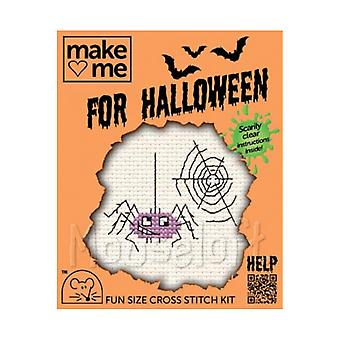 Spider - Make Me for Halloween Small Counted Cross Stitch Kit