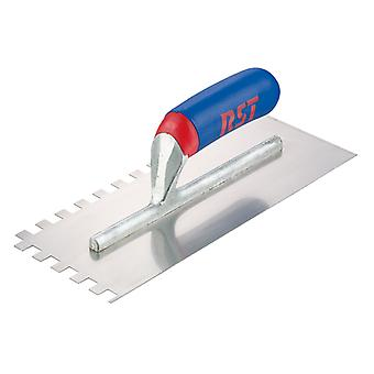 R.S.T. Notched Trowel Square 6mm² Soft Touch Handle 11 x 4.1/2in RST8002ST