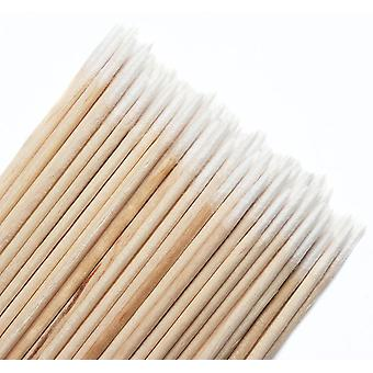 Disposable Ultra Small Cotton Swab - Lint Free Micro Brushes Wood Cotton Buds