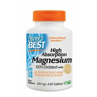 Doctors Best High Absorption Magnesium, 100 mg, 240 Tabs