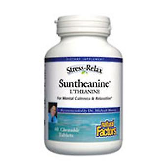 Luonnolliset tekijät Suntheanine L-Theanine, 60 Pureskeltavaa kielekettä