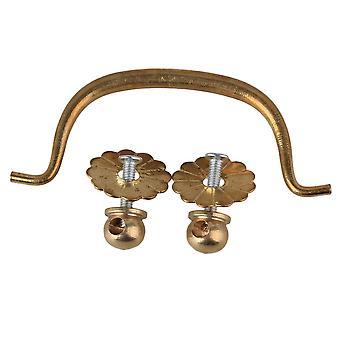 Jewelry Box Pulls Classic Horizontal Brass Drawer Handles Mini Pull Knobs