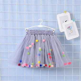 Multilayer Skirt Colorful, Pom Princess Mini Dress For Set-1