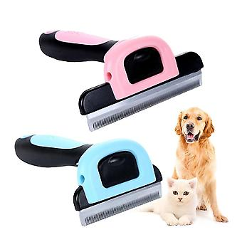 Hair Remover Brush & Grooming Trimmer With Detachable Clipper For Pet Dog  Cat