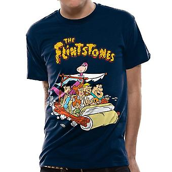 The Flintstones Adults Unisex Adults Car T-Shirt