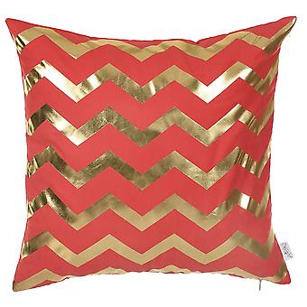 "18""x 18"" Happy Square Waves Printed Decorative Throw Pillow Cover Pillowcase"