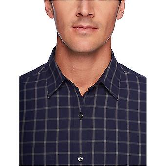 Essentials Hombres's Regular-Fit Camisa poplin casual de manga larga, cristal marino, medio