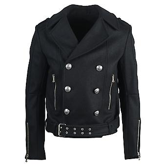 Balmain Double Breasted Military Black Jacket