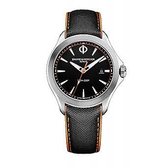 Baume & Mercier BM0A10411 Clifton Club Black Dial Wristwatch
