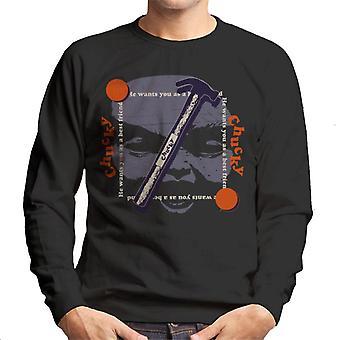 Chucky Beste Vriend Hammer Face Men's Sweatshirt