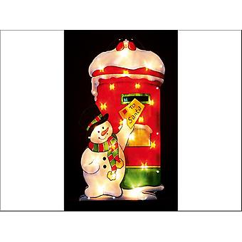 Premier Decorations Snowman Post Letters Silhouette LI111301