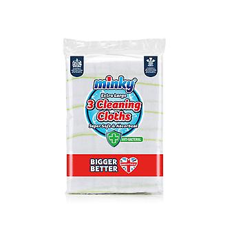 Minky Anti-Bacterial Cleaning Cloths x 3 KK03501030