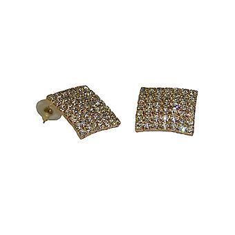 Suuret neliö diamante korvakorut kimalteleva kristalli tekojalokivi korvakorut hänelle
