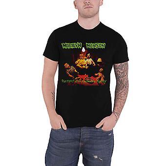 Marilyn Manson T Shirt American Family Logo new Official Mens Black