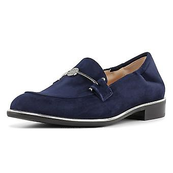 Peter Kaiser Hanka Smart Casual Loafer Shoes In Navy Suede